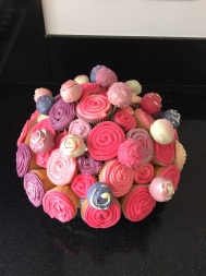 Pink swirls with cake pops