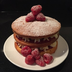 Naked 3-Tier Raspberry Sandwich
