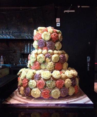 Wedding Cake Cupcake Cake
