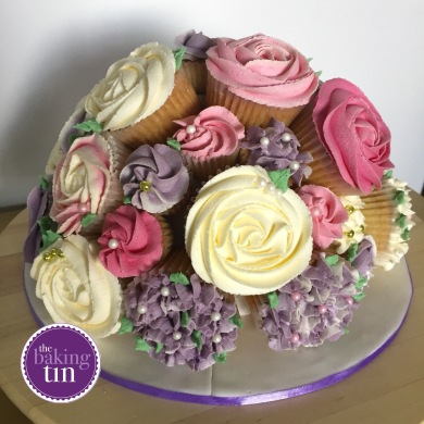Light pink, purple and cream bouquet