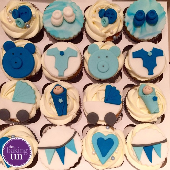 Cute baby blue vanilla flavoured cupcakes