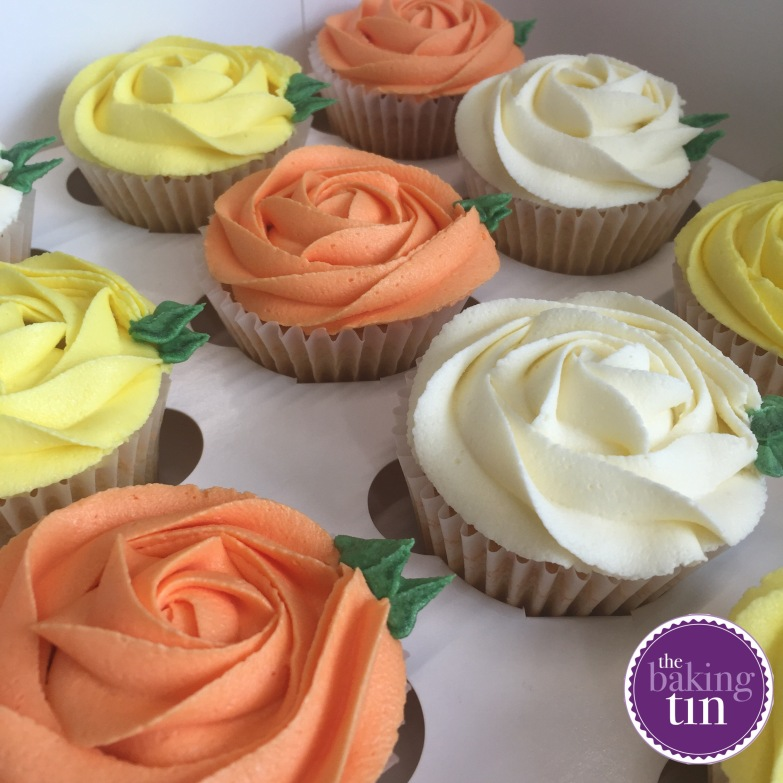 Orange, white and yellow Cupcakes