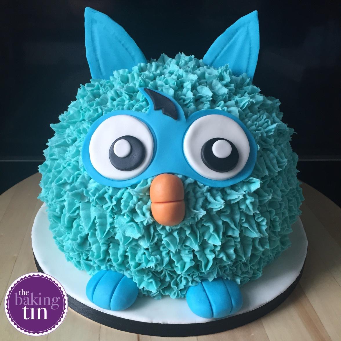 Furby Inspired Birthday Cake