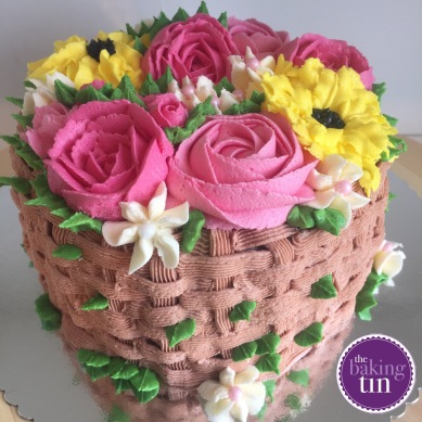 Wicker Basket of Flowers