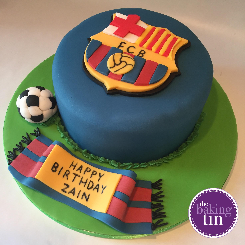 Barcelona Fc Birthday Cake