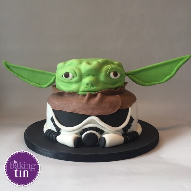 Storm trooper and Yoda cake